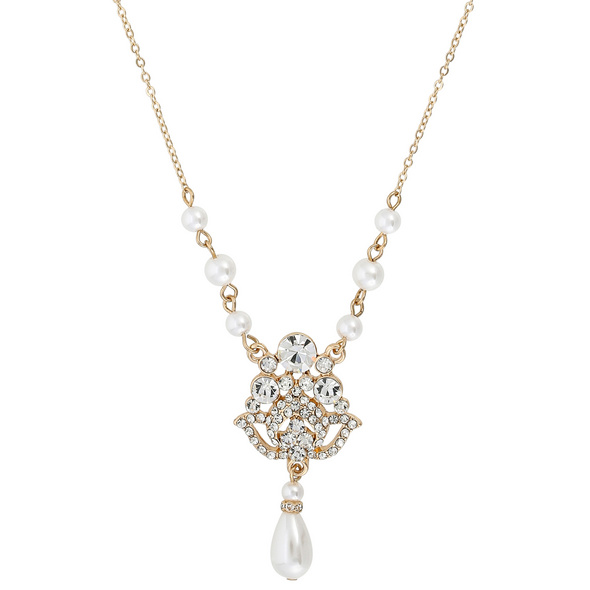 Kette - Pearl and Diamond