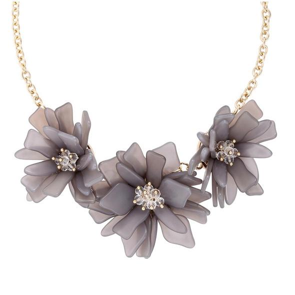 Kette - Grey Flower