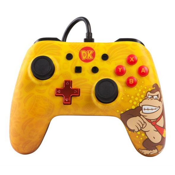 Nintendo Switch PowerA Wired Pro Controller Donkey Kong