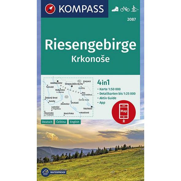 KOMPASS Wanderkarte Riesengebirge, Krkonose