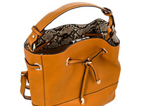 Handtasche - Yellow Snake Inside