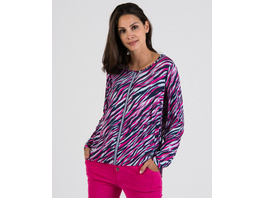 Viskose-Bluse mit Zebradruck
