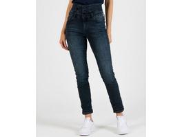 High-Waist Jeans in Crashoptik