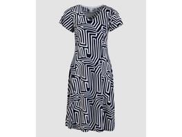 Kleid mit abstraktem Druck