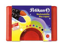 Pelikan Wachsmalstifte 665/8 wasserfest, 8er Set + Schaber