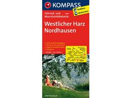 KOMPASS Fahrradkarte Westlicher Harz - Nordhausen